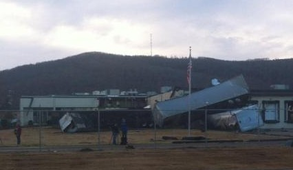 Recent tornado damage in Fort Payne